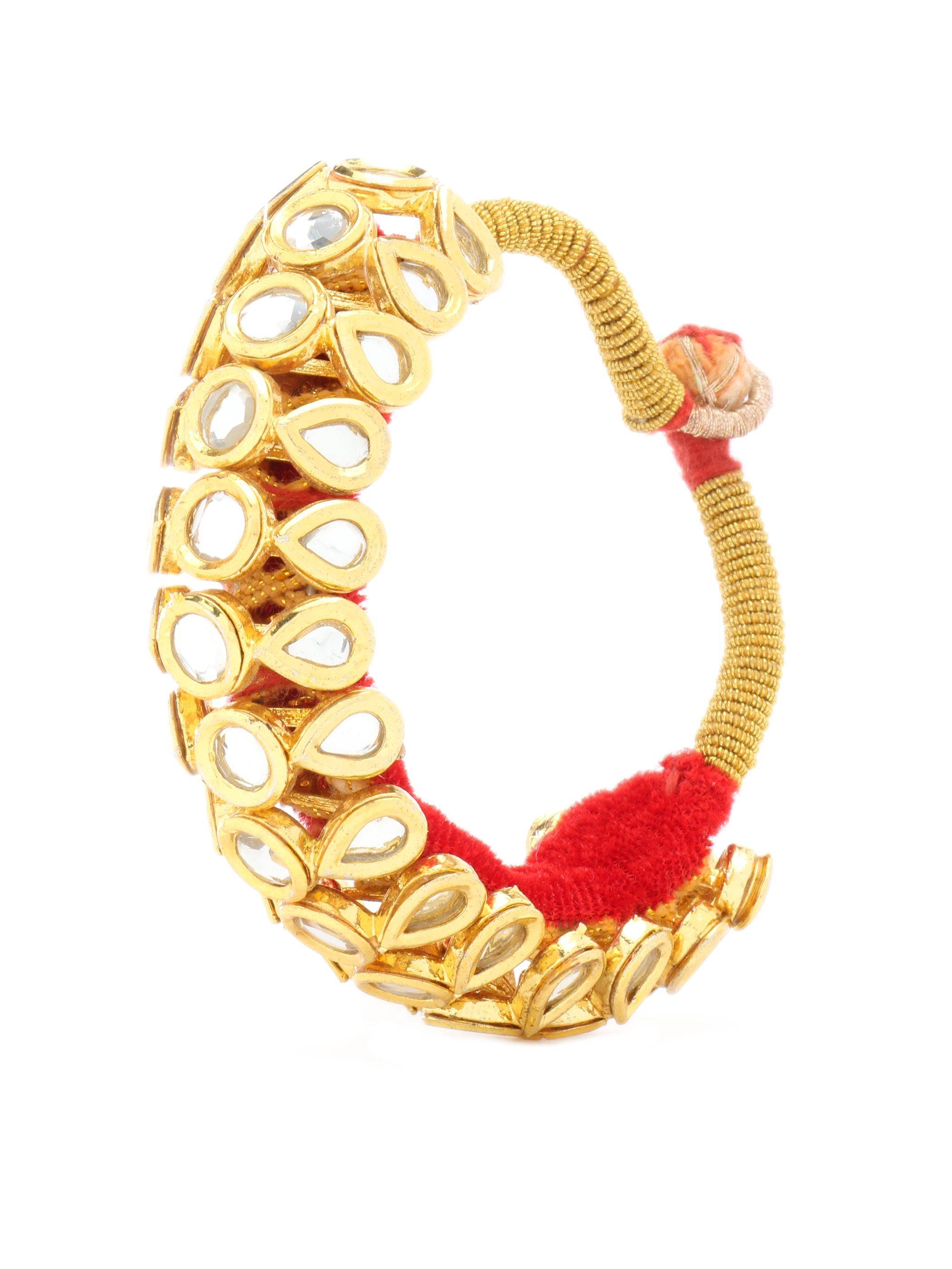 women womens zirconia studded for cubic bangle bracelets myshoplah tone gold designer bangles