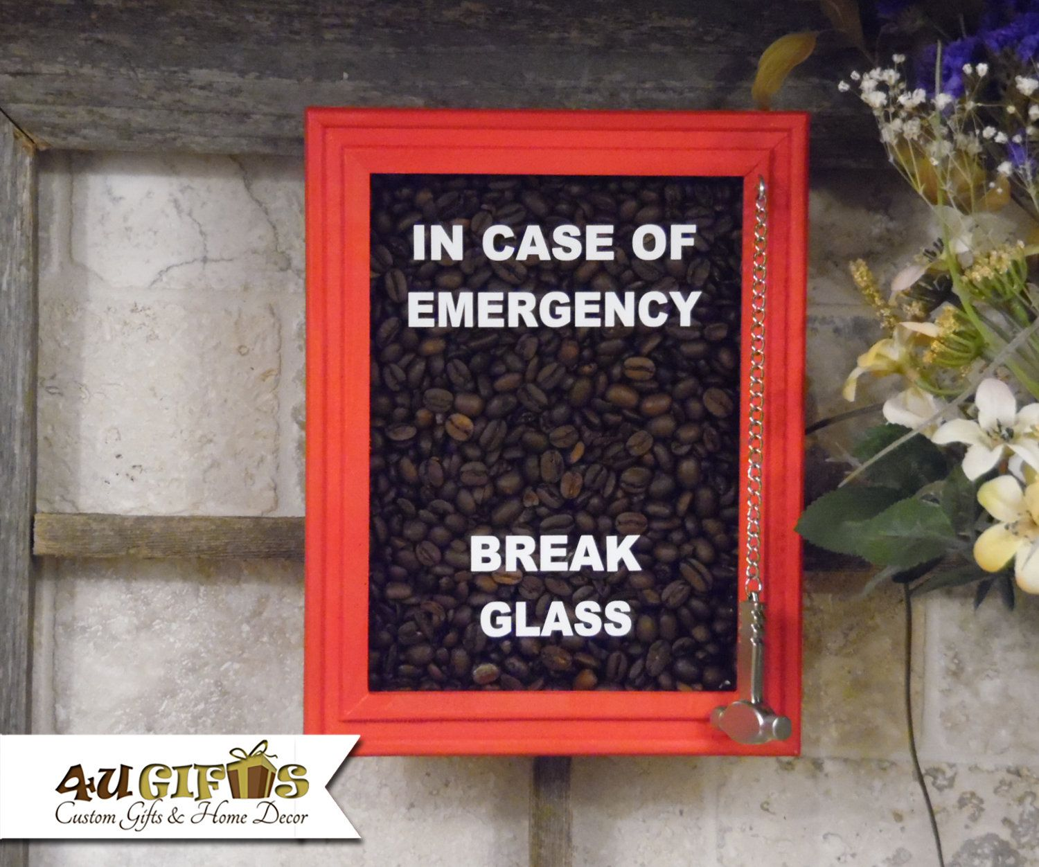 Coffee Beans In Case Of Emergency Break Glass Coffee Lover S Gift Funny Gift Co Worker Gift Gift Exchange In 2020 In Case Of Emergency Gifts For Coworkers Coffee Lover Gifts