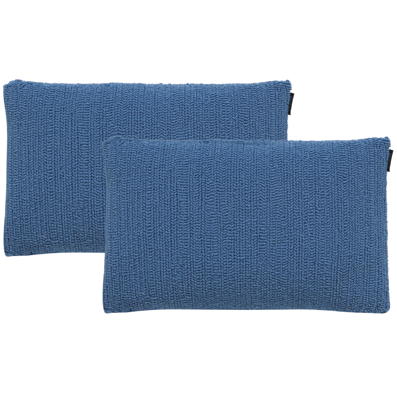 Safavieh Soleil Solid Indoor/ Outdoor Light Marine 12-inch x 20-inch Throw Pillows