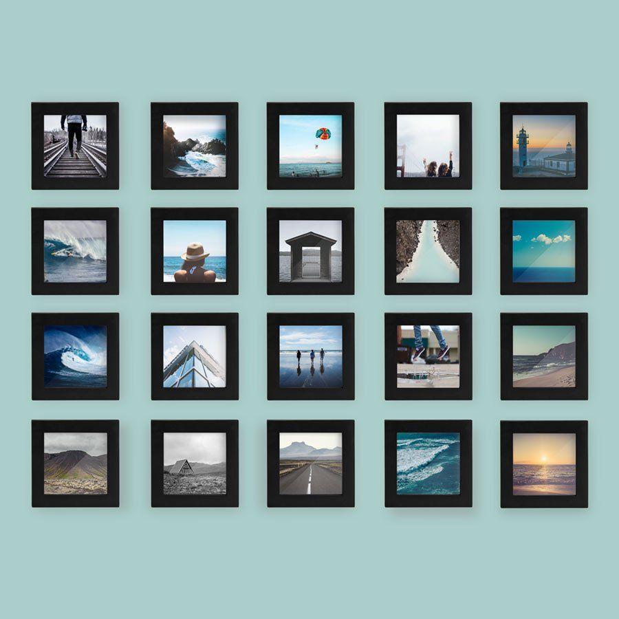 20 Pack Black 4x4 Photo Frame 4x4 Photo Frame Photo Wall