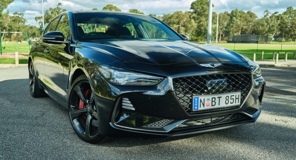 Driven 2020 Genesis G70 3 3t Sport Makes For A Truly Compelling Proposition Carscoops In 2020 Sports Sedan Genesis Sedan Cars
