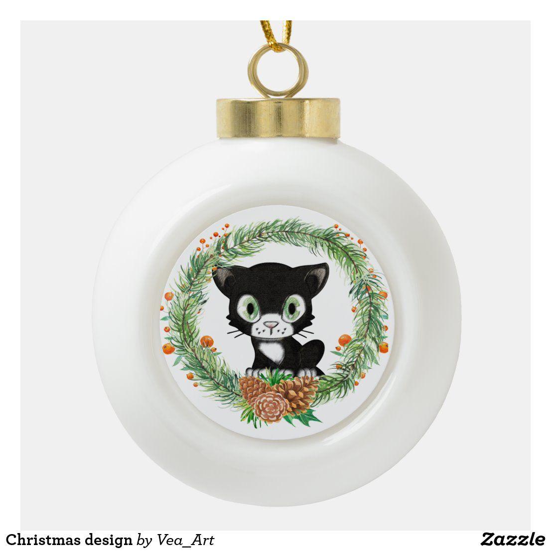 Christmas Design Ceramic Ball Christmas Ornament Zazzle Com Christmas Ornaments Christmas Design Holiday Design