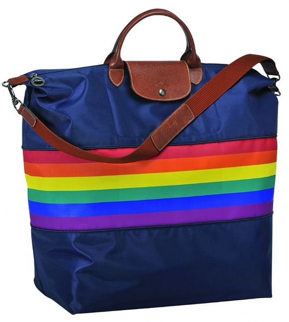 Fashion Rainbow Canvas Stripe Backpack Unisex Handbag Shoulder Crossbody Bag