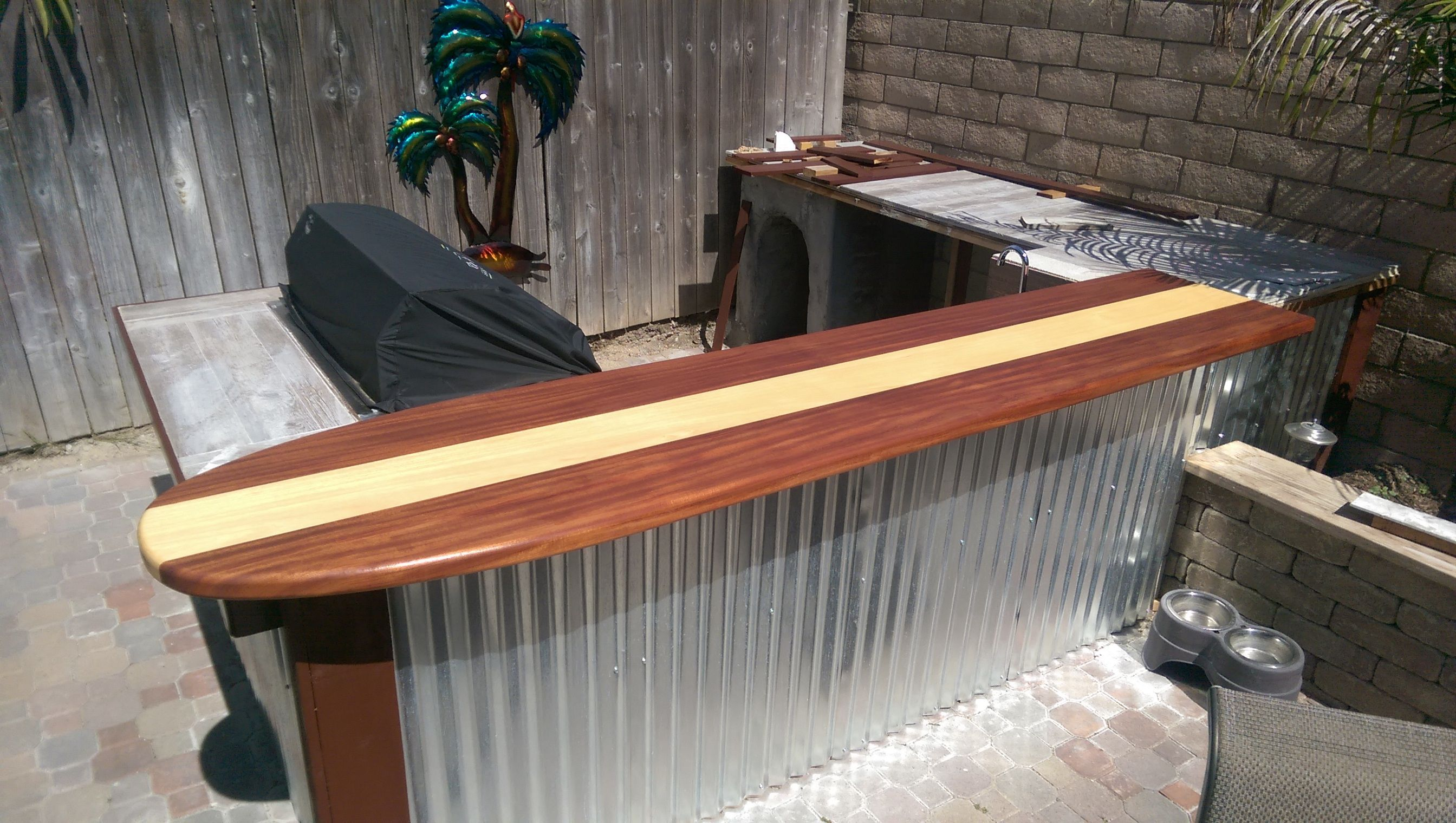 Custom Made Classic Surfboard Bar Top Home Surfboard