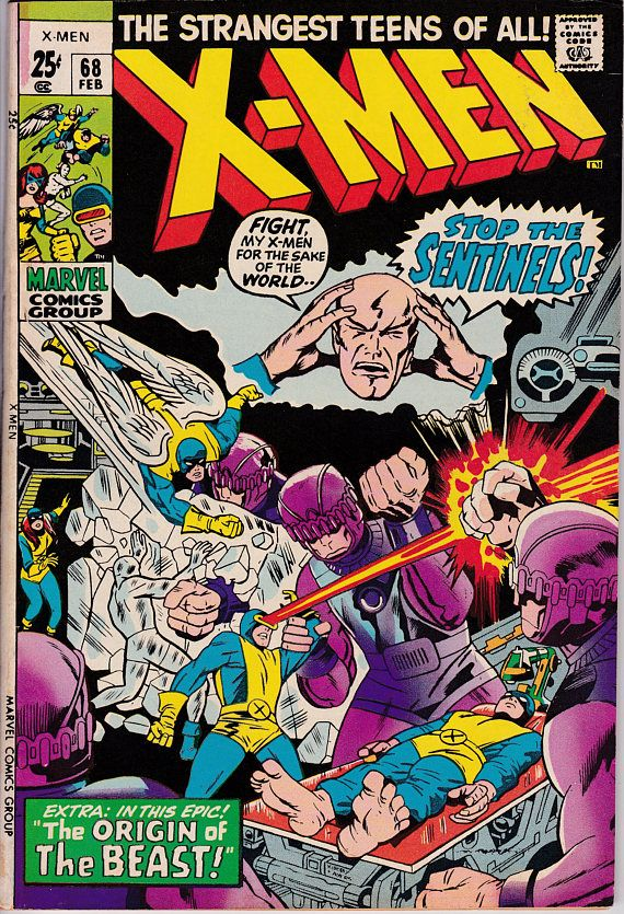 Uncanny X Men 68 1963 1st Series May 1970 Marvel Comics X Men Jack Kirby Comics
