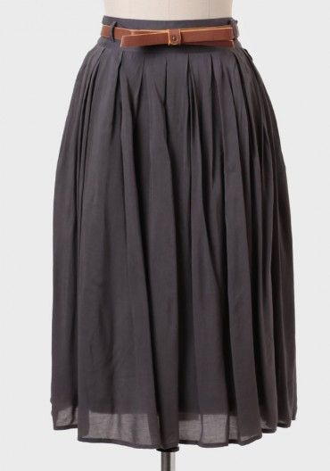 southern blossom skirt in charcoal modern vintage skirts