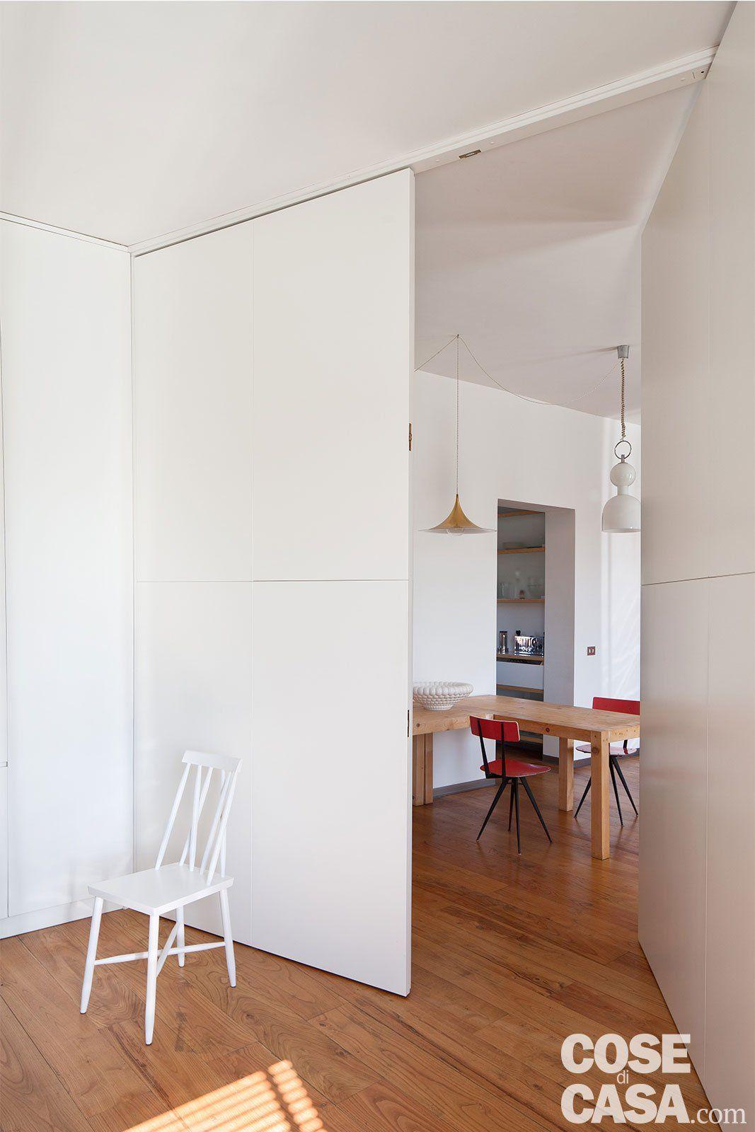 80 mq con pareti apribili che trasformano l'open space in