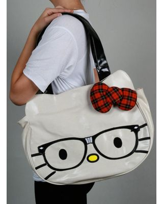 8dcda34171 Hello Kitty Nerd Face Bag! too cute!