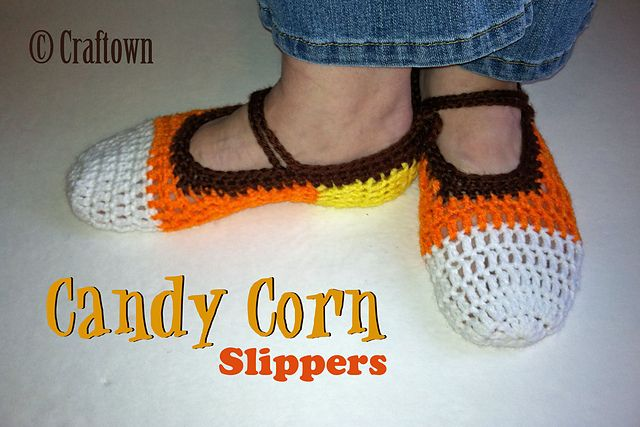 b50b562dd Ravelry: Candy Corn Slippers pattern by Tia Davis-Free Pattern ...