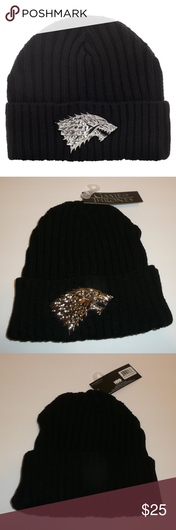 0949ae23f7800 House Stark Dire Wolf Game of Thrones Beanie Hat Winter Is Coming and this  awesome beanie will keep you warm throughout the holiday season and beyond!