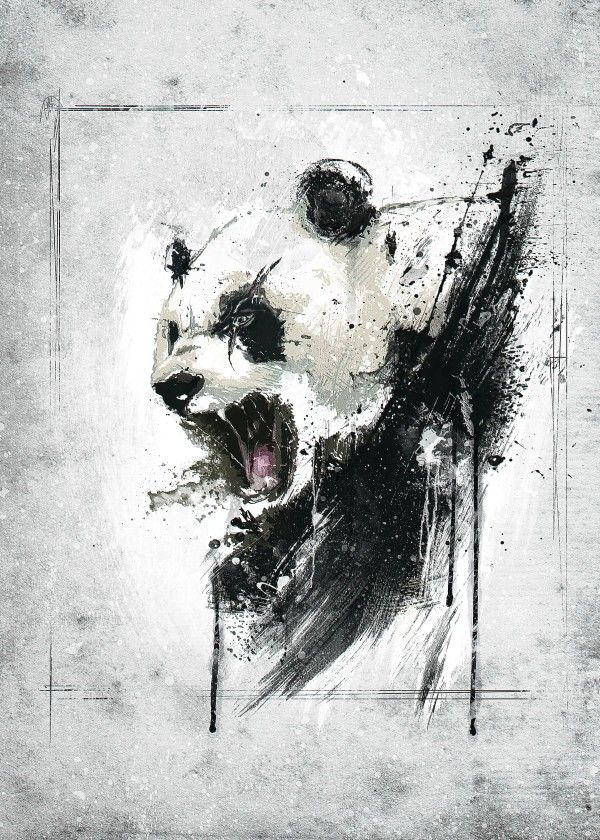 Angry Panda By Emiliano Morciano Metal Posters Панды