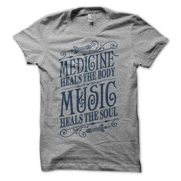 Music Heals T-Shirt Gray now featured on Fab.