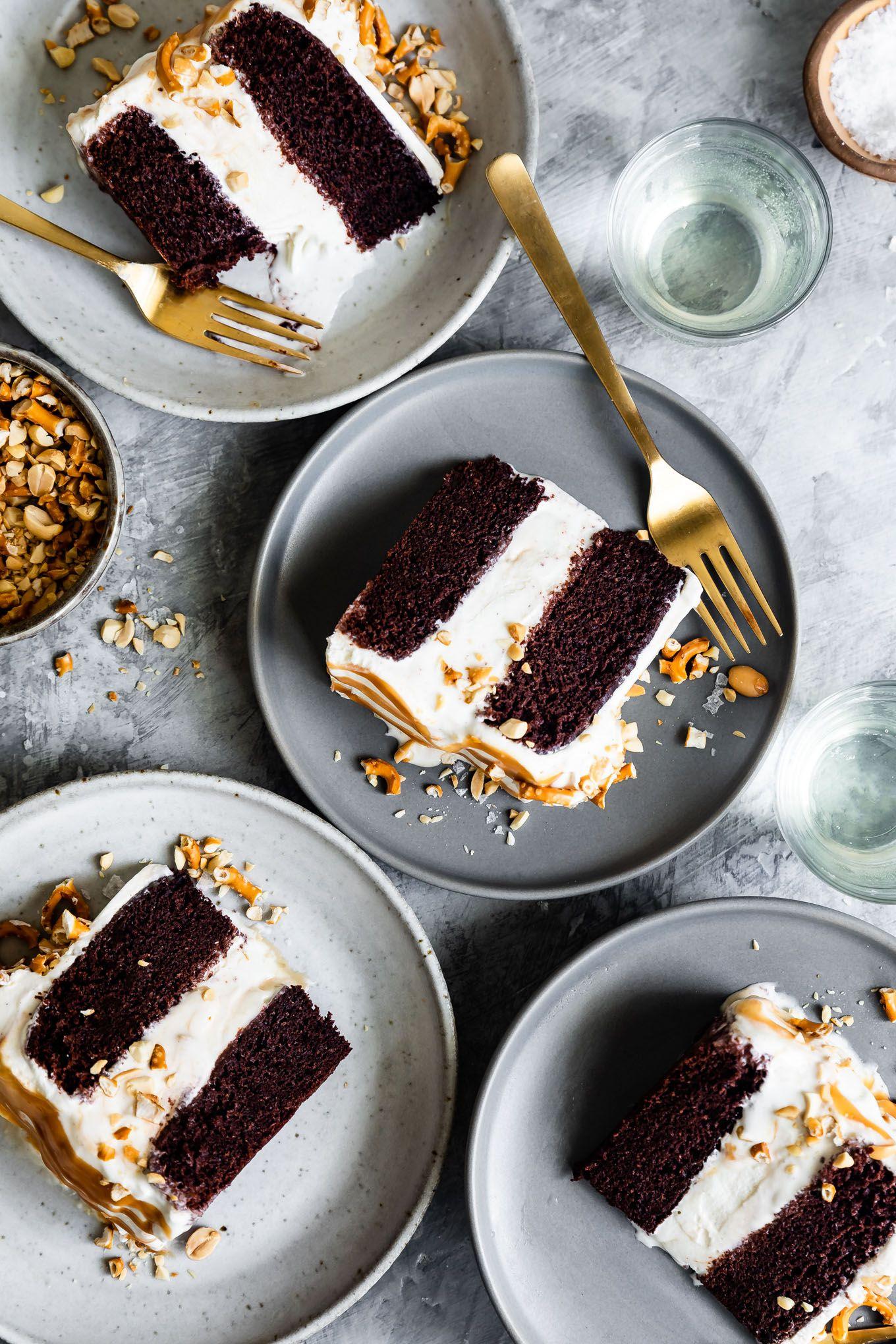 Chocolate glutenfree ice cream cake with caramel recipe