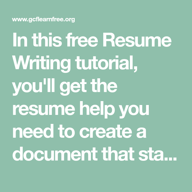 in this free resume writing tutorial you ll get the resume help you