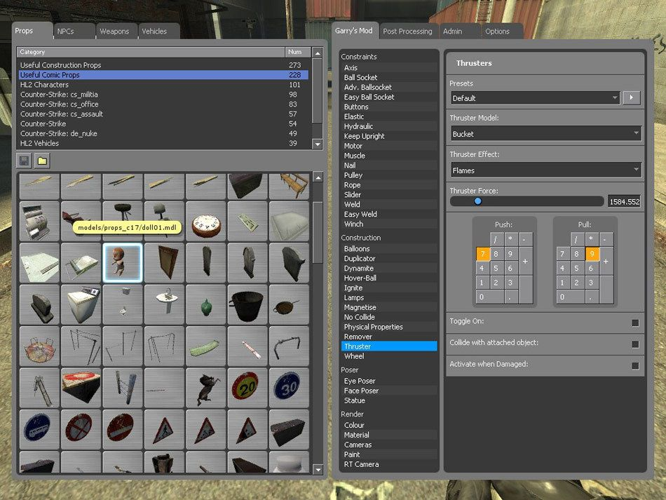 Garry's Mod is a physics sandbox. Unlike regular games