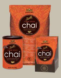 Best chai ever!!!! David Rio Chai: Tiger Spice Chai Latte Dry Mix : Product Code TIGER