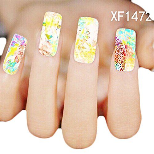 Awtang Resin Nail Stickers Elegant and Fashionable Fingernail Decals ...