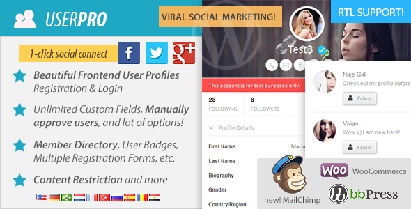 Download Wordpress Plugin UserPro - User Profiles with Social Login