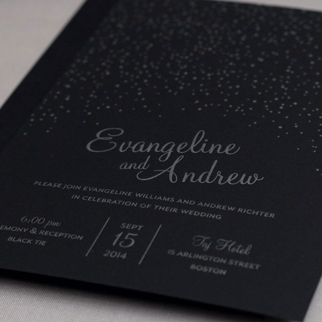 Featured Wedding Invitation Design: Starry Night By Wicked Bride Stationery