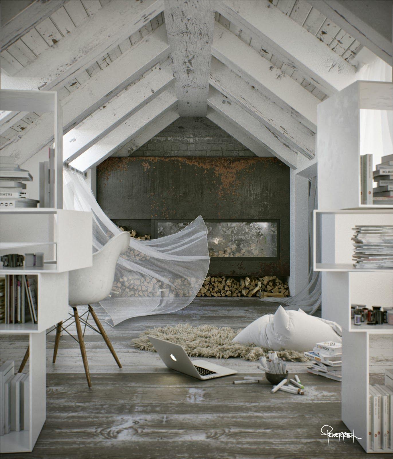 Pin by mayte bernés on interior design pinterest attic loft