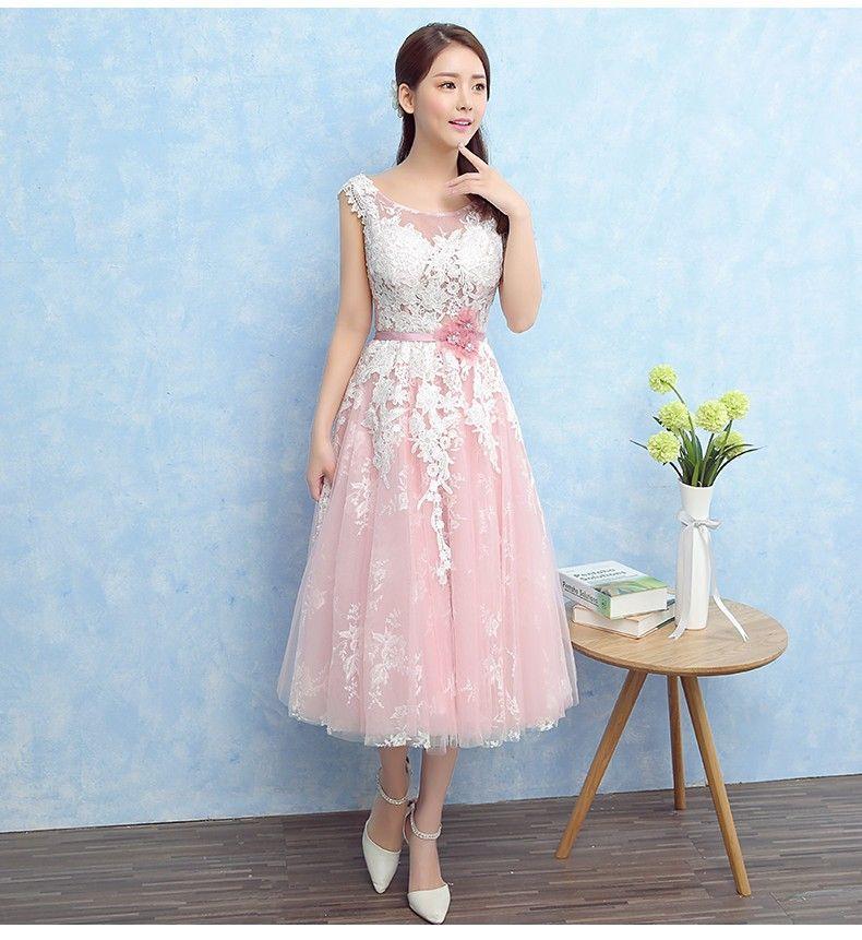 249fb98a63445 ウェディングドレス ミモレ丈 カラードレス ウエディングドレス 花嫁 ... 1