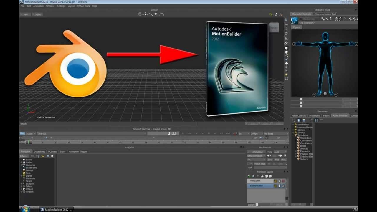 Blender to MotionBuilder Tutorial | MOTION BUILDER | Blender models