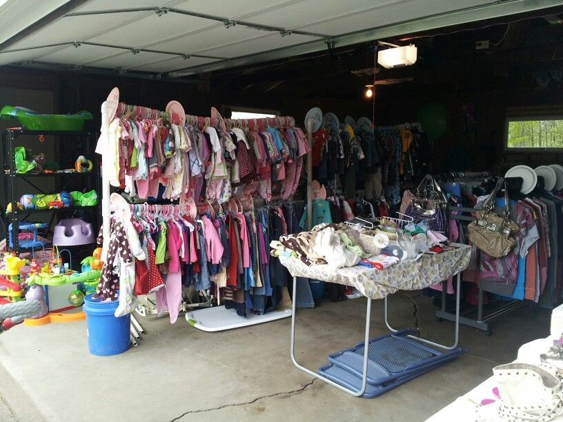Delightful Garage Sale Ideas Organize Part - 13: Garage Sale Organizing. Hang All Clothing And Sort By Size. It Says You Care