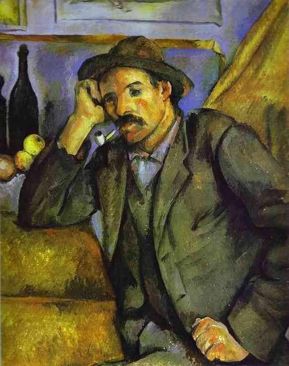 Paul Cezanne >> El fumador   (oleo, obra de arte, reproducción, copia, pintura).