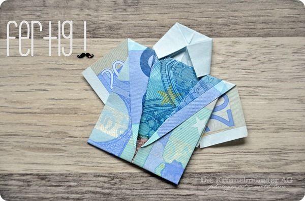 diy geld falten mein letztes hemd anleitungen f r origami mit geldscheinen money origami. Black Bedroom Furniture Sets. Home Design Ideas
