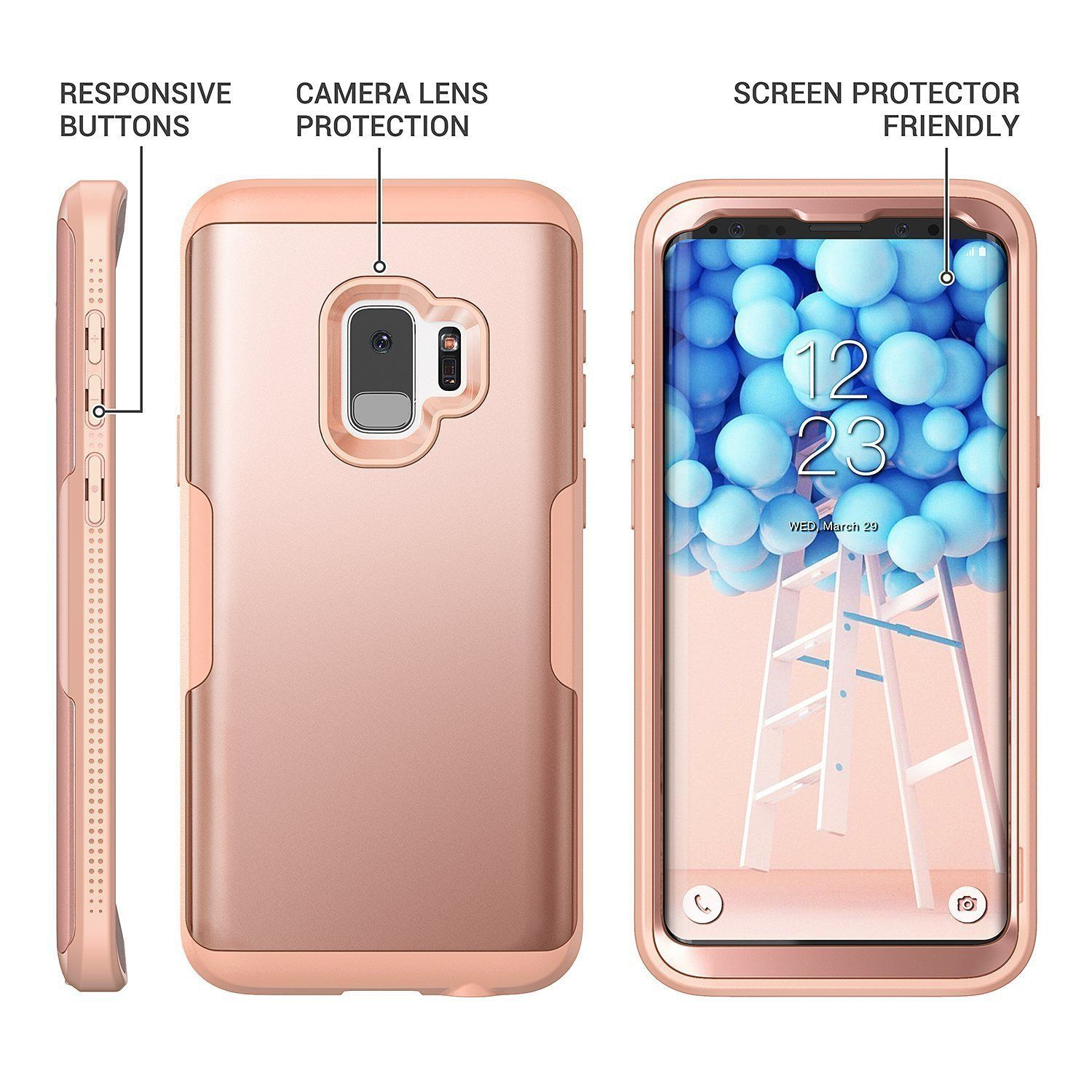 Youmaker 360 Protection Phone Case For Samsung Galaxy S9 Plus Free Shipping Heavy Duty Milita Cell Phone Case Accessories Phone Cases Phone Case Accessories