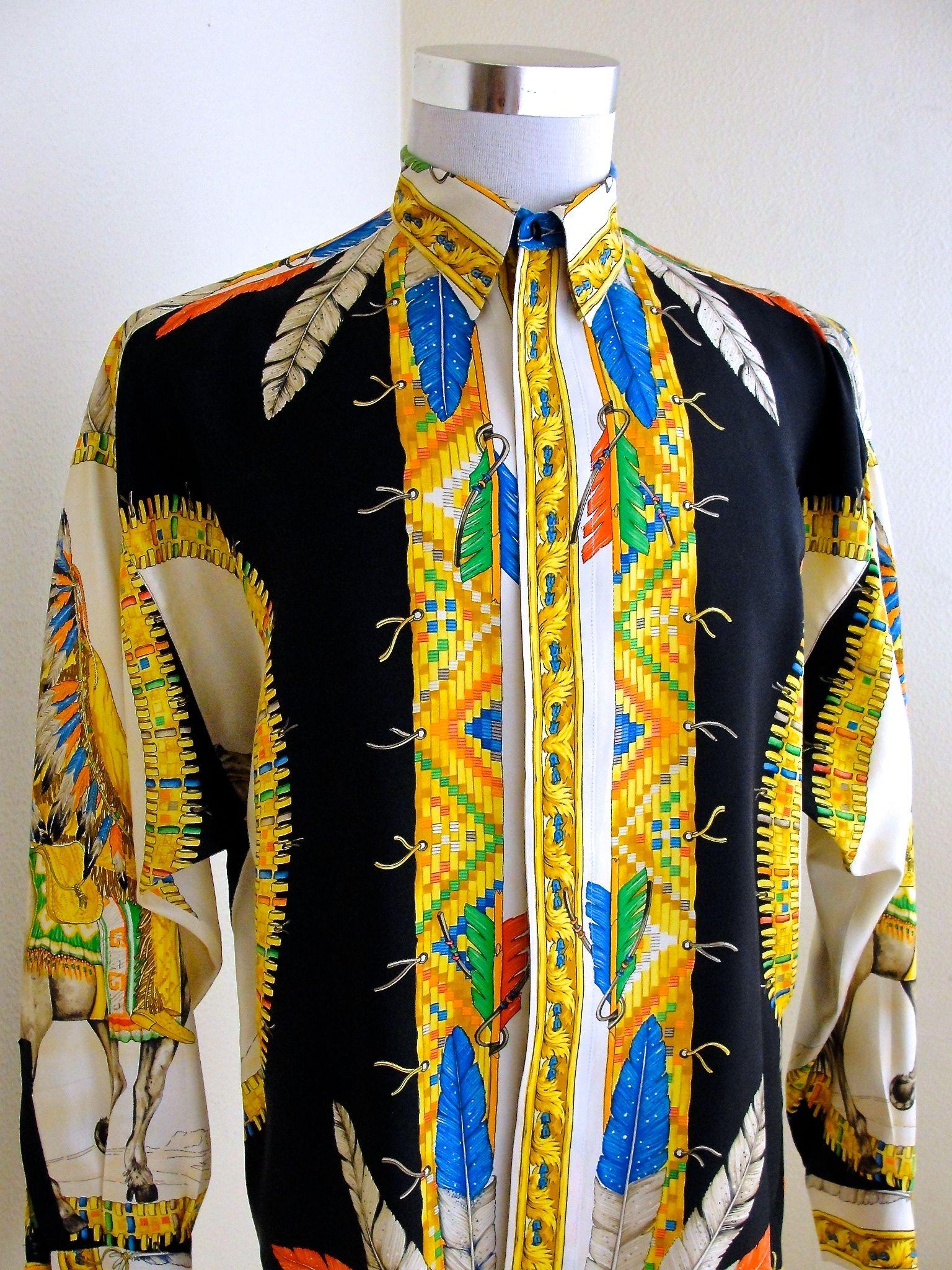 colorful versace shirts