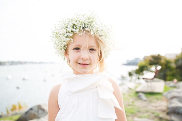 Sweet flower girl: http://www.stylemepretty.com/massachusetts-weddings/marblehead/2014/06/30/nautical-marblehead-wedding-at-the-boston-yacht-club/ | Photography: The Studio Nouveau - http://www.thestudionouveau.com/