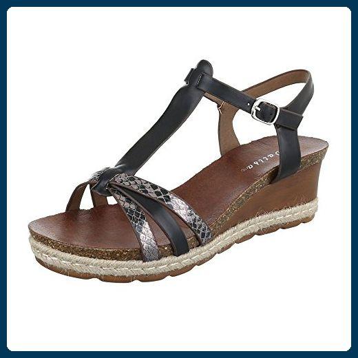 Beste Qualität Tolle Schwarze Sandalen Schuhe Keilabsatz
