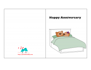 Free Printable Anniversary Card With Cute Teddy Bear Couple Free Printable Anniversary Cards Printable Anniversary Cards Anniversary Cards
