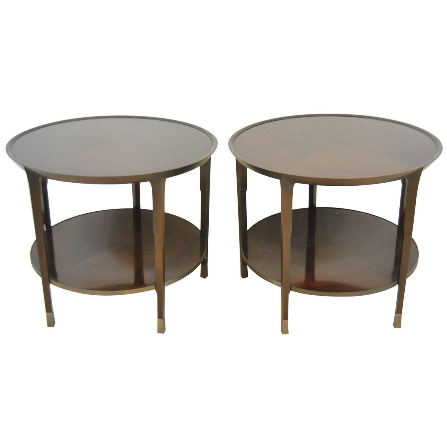 Pair Of Walnut Sabre End Table By Bill Sofield For