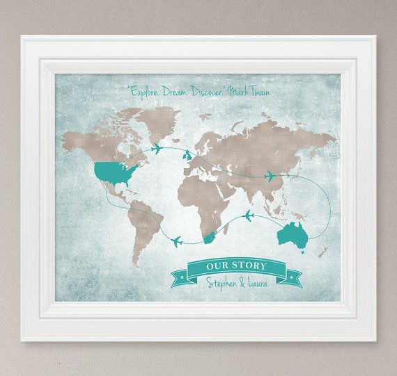 Personalized vintage world map art print 8x10 digital print personalized vintage world map art print 8x10 digital print customized stamp banner gumiabroncs Image collections