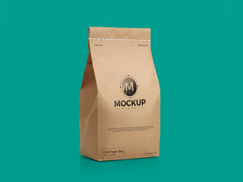 Download Free Craft Packaging Bag Mockup Psd For Presentation 2018 Bag Mockup Craft Packaging Mockup