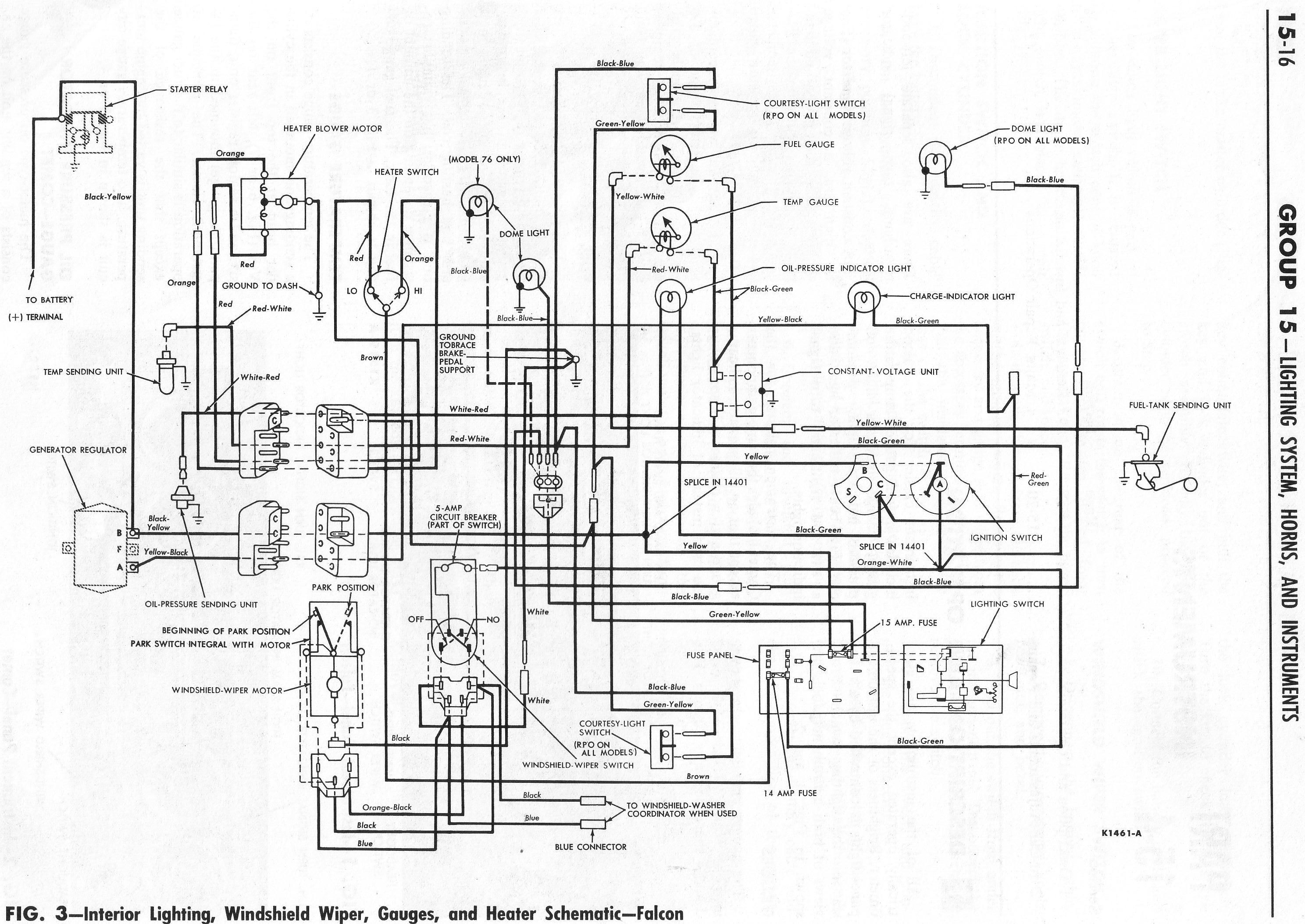 1964 ford falcon wiring diagram for interior lighting