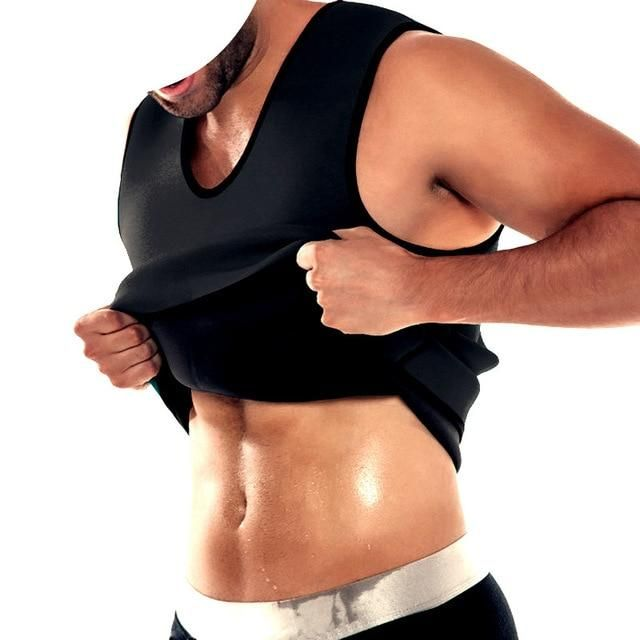 e7609077b15 Neoprene Men Body Shaper Sauna Sweat Ultra Slimming Belt Belly Abdomen Fat  Burn Shapewear