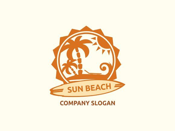 Sun Beach by Brandlogo on @creativemarket