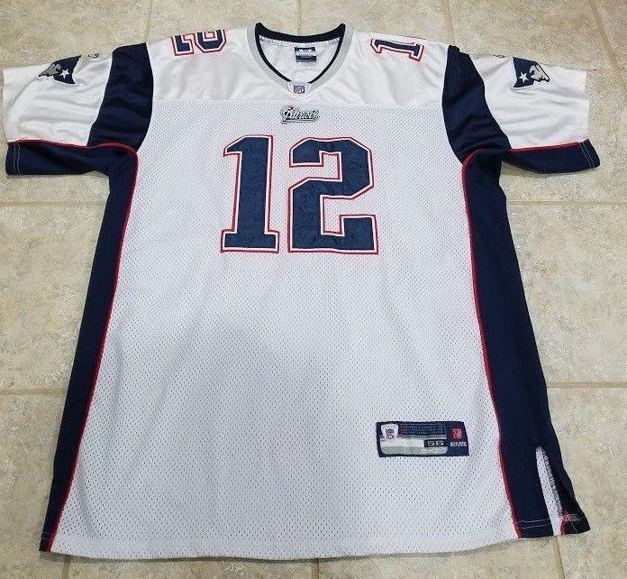 7393b30c2 Tom Brady New England Patriots Authentic Reebok White Stitched Jersey Size  56  Reebok  NewEnglandPatriots