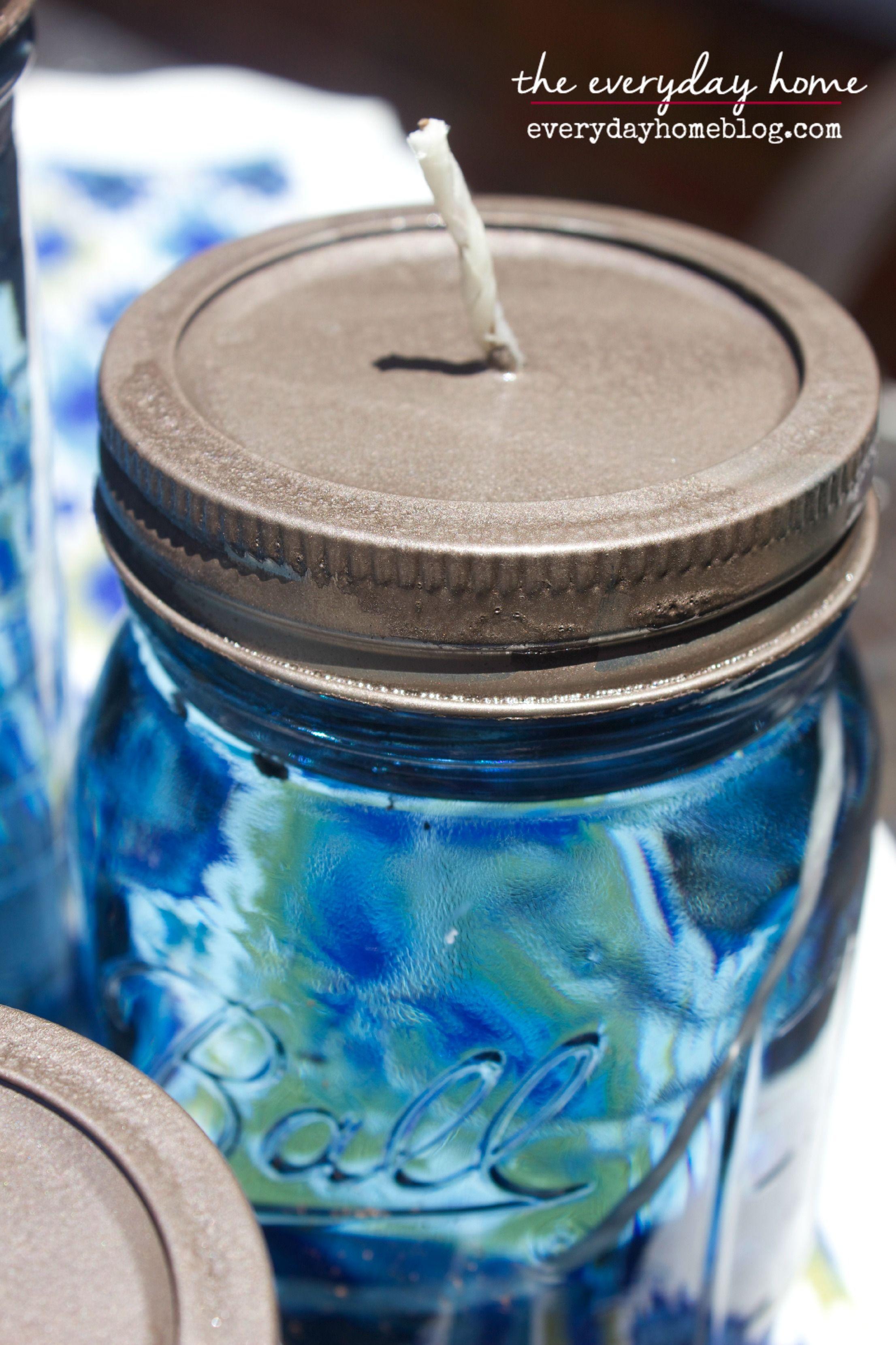 DIY Citronella Mason Jar Candles The