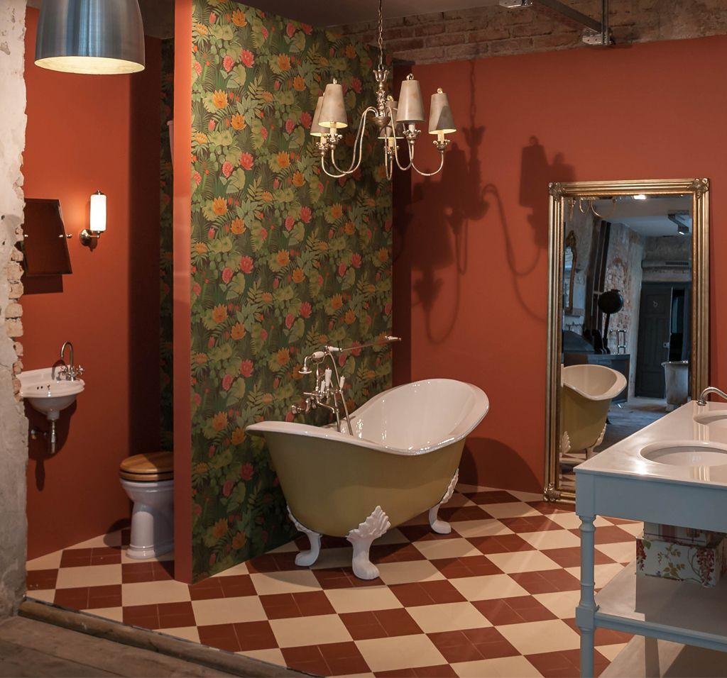 Retro Badezimmer floral gestaltet   Badezimmer, Stil ...