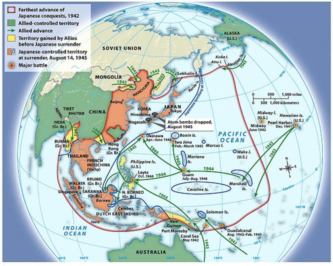 World war ii in the pacific war ii pinterest mapas guerra y world war ii in the pacific gumiabroncs Gallery