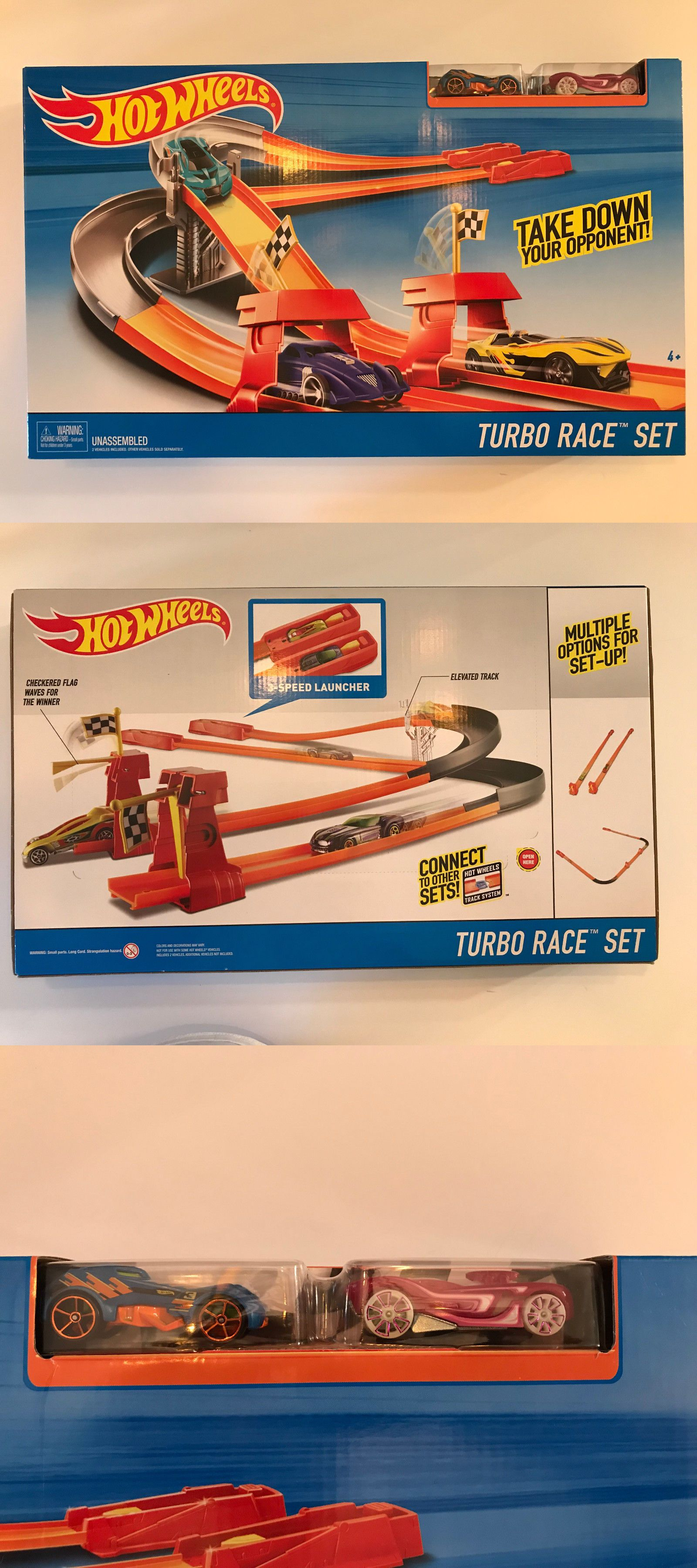 1c8cf9b9f68 Buildings and Set Parts 171137  Hot Wheels Turbo Race Set Opponent Take  Down Expandable Set W Exclusive Car Nib -  BUY IT NOW ONLY   22.95 on eBay!