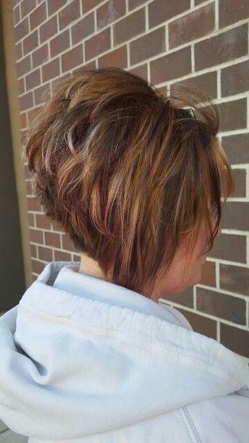 stacked inverted bob hair short