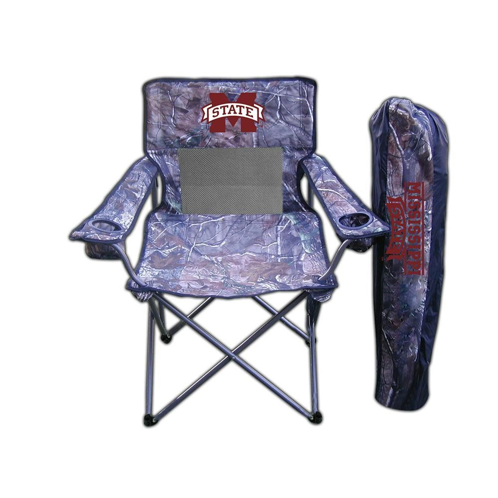 Mississippi State Bulldogs NCAA Ultimate Real Tree Camo Adult Tailgate Chair