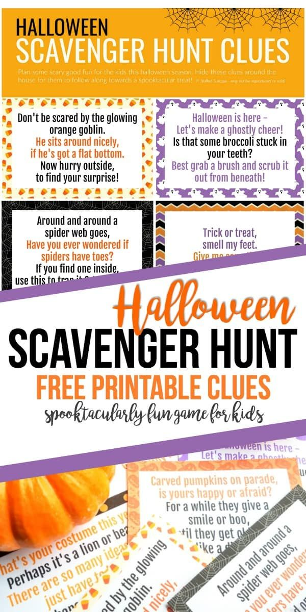 Halloween Scavenger Hunt - How to Plan a Surprise for Your Kids ...