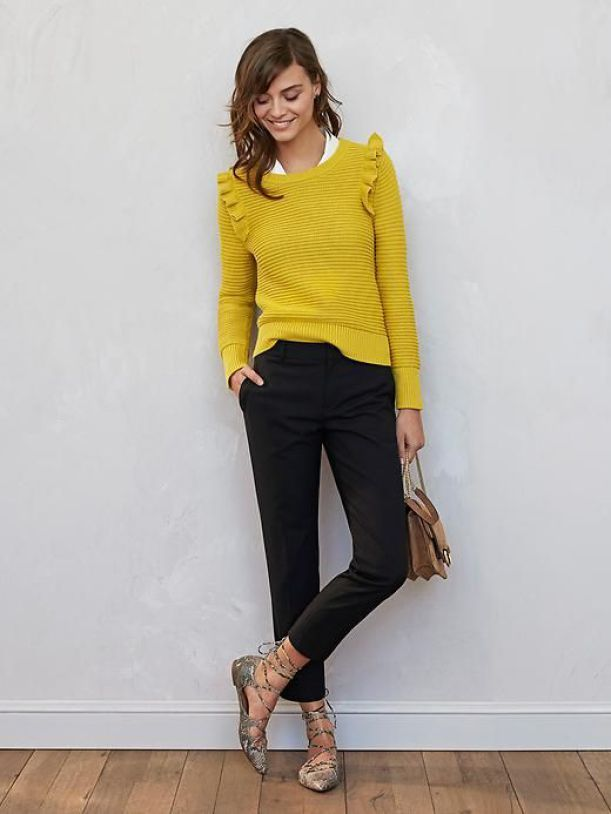 banana republic ruffle pullover sweater 8 fall 2017 trends sleeve details in 2019 fashion