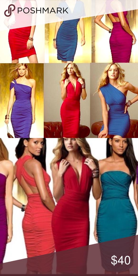 Red Victoria's Secret Multiway multi way dress Versatile dress from Victoria's Secret. Can be mini or midi, halter, strapless, one shoulder...endless options ❤️ Victoria's Secret Dresses